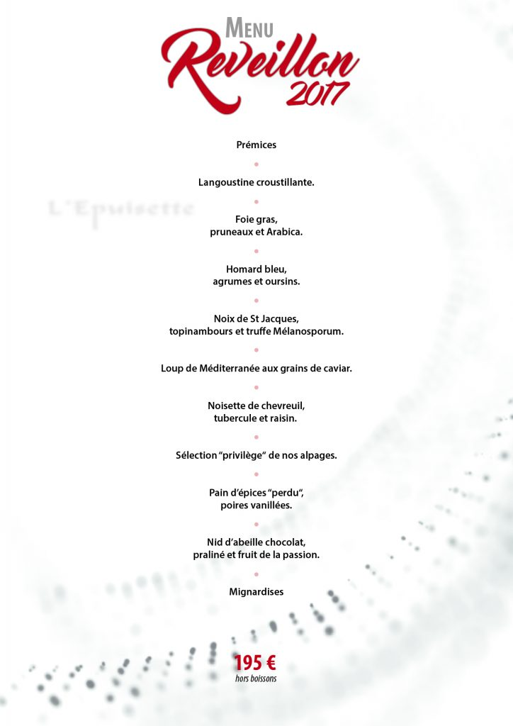 Marseille Restaurant Menu